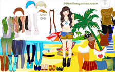 Animated Beach Dress Up