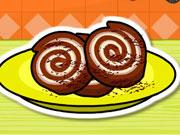 Brownie Peanut Ice Cream Roll